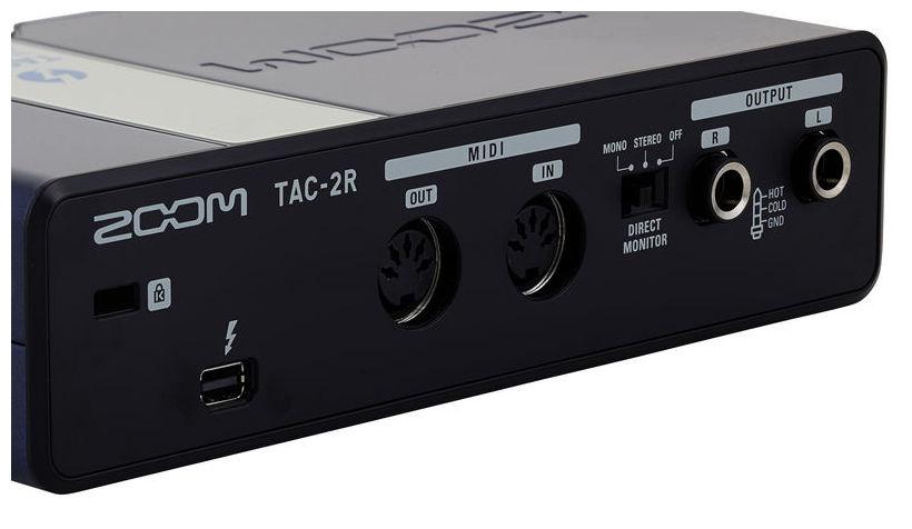 zoom tac 2r interfa audio thunderbolt soundcreation. Black Bedroom Furniture Sets. Home Design Ideas