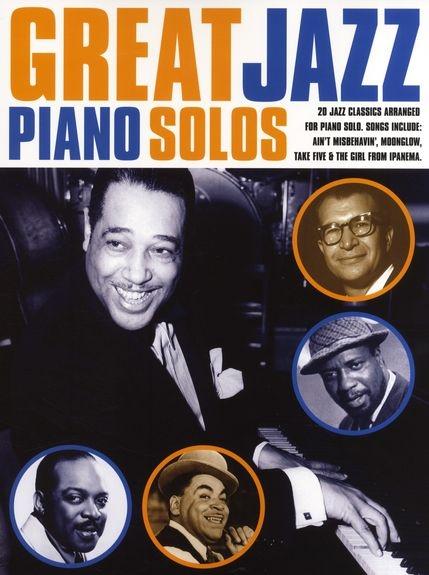 GREAT JAZZ PIANO SOLOS PIANO BOOK