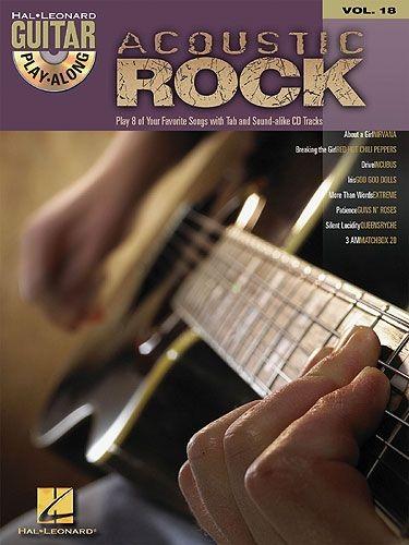 GUITAR PLAY ALONG VOLUME 18 ACOUSTIC ROCK GTR TAB BOOK/CD